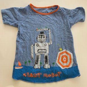 Fun Egg size 5 year Robot tee shirt